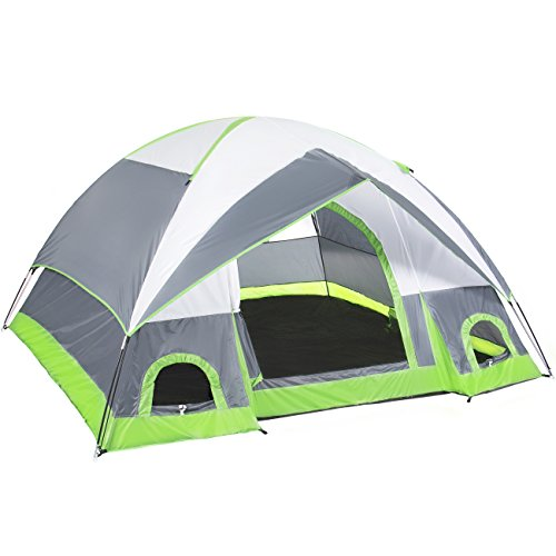 Best Choice Products 4 Person Camping Tent Family Outdoor Sleeping Dome Water Resistant W/Carry Bag by Best Choice Products