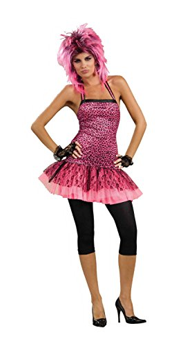 Forum Novelties Women's 80's To The Maxx Neon Funk Costume Dress, Pink, Standard
