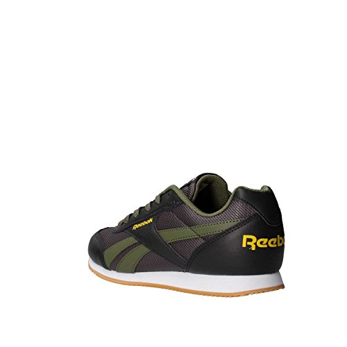 Reebok Royal Cljog 2rs, Zapatillas de Deporte Unisex Niños Negro (Coal / Hunter Green / Primal Yellow)