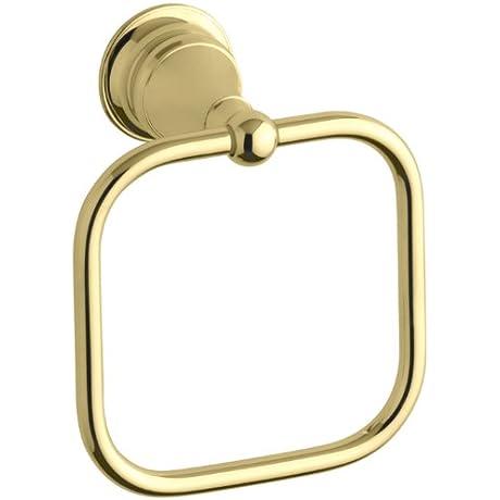 KOHLER K 16140 PB Revival Towel Ring Vibrant Polished Brass