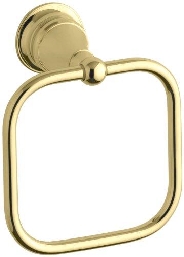 KOHLER K-16140-PB Revival Towel Ring, Vibrant Polished (Brass European Towel Ring)