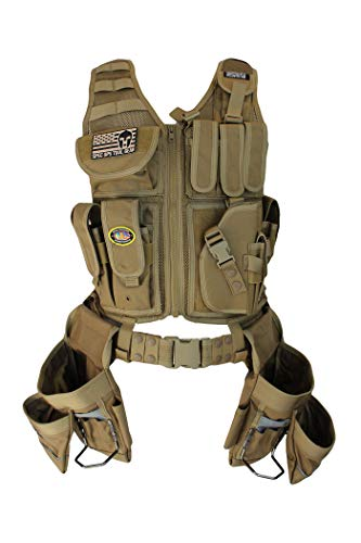 (Special Operations Tool Gear Weekend Warrior (Finish Carpenter) Tactical Tool Vest (Coyote Tan))