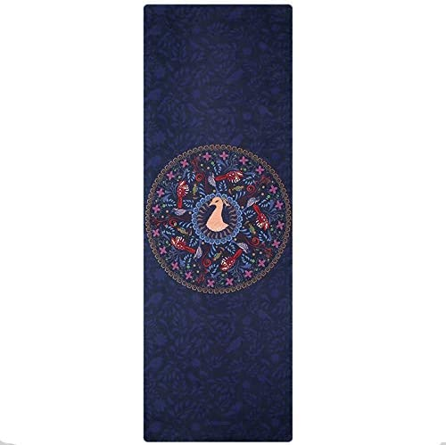 Yoga mat 旅のヨガマット天然ゴムノンスリップフィットネスマット、折り畳み式の0.1cmの超薄型ヨガピラティスフィットネスエクササイズマット workout