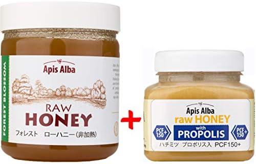 [スポンサー プロダクト]【Amazon.co.jp限定】 はちみつ 蜂蜜 ハチミツ 生 2個組 セット (フォレストハニープロポリスハニー150+ 390g) Raw Honey Set Forest Raw Honey 624g & Propolis...