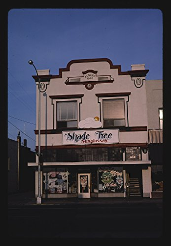 24 x 16 Ready to Hang Gallery Wrapped Fine Art Canvas Print of: Shade Tree Sunglasses, Grants Pass, Oregon 1987 Roadside Americana, J Margolies 61a