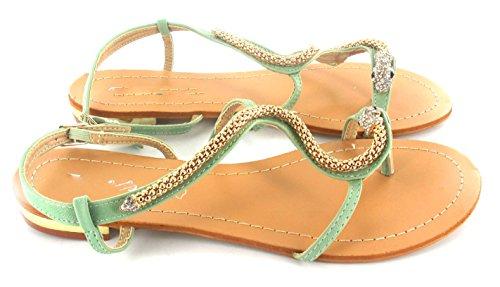 SHUMAD SHUMAD - Sandalias de vestir para mujer Verde - verde