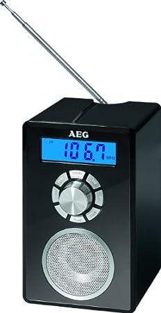 AEG MR 4139 - Radio Bluetooth, Memoria para 20 emisoras, Pantalla LCD, aux-in, sintonizador FM, función de Alarma, Color Negro