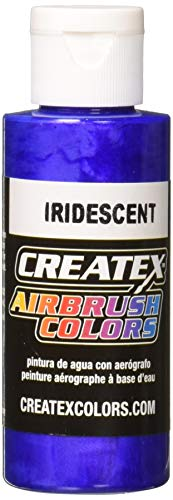 Createx Airbrush Paint, Iridescent Electric Blue, 2 oz (5505-02)