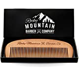 Hair Comb - Wood with Anti-Static & No Snag Handmade Brush for Beard, Head Hair, Mustache with Design in Gift Box by...