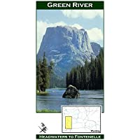 Upper Green River 11x17 Fly Fishing Map