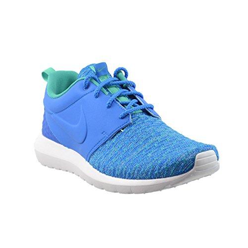 Nike Roshe One Nm Flyknit Premium Hommes Chaussures De Course Photo Bleu / Soar-atomique Sarcelle 746825-400