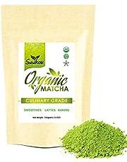 Saikou Matcha Green Tea Powder 3.5oz (100g) Premium Culinary Grade USDA Organic Certified for Lattes, Smoothies , Baking , Herbal Tea, Detox Tea & Slim Tea . Natural Energy & Sugar Free