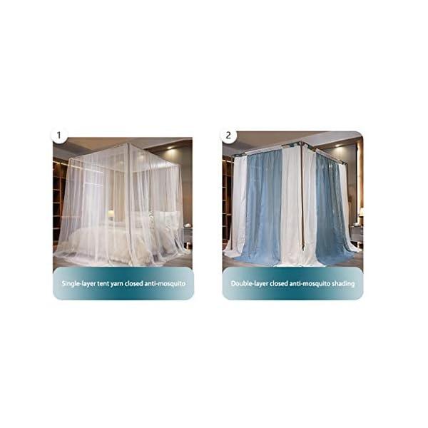 2 in 1 tessuto di tela staccabile zanzariera, 1.5m / 1.8m / 2m letto manto di crittografia delle famiglie Pavimento… 4 spesavip