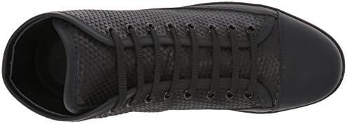 BUGATCHI Men's Abruzzo Sneaker, Nero, 12 M US