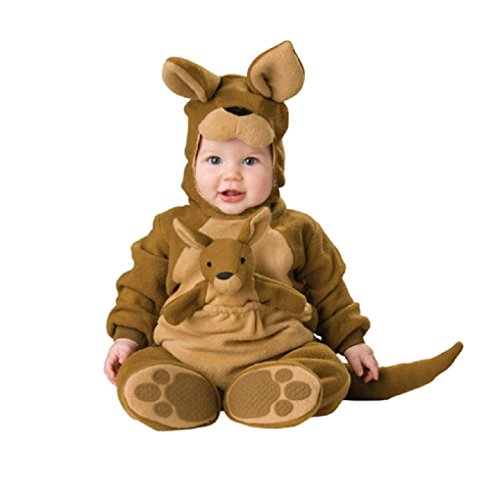 Unisex Kids Baby Halloween Romper Pajamas Cosplay Costume Animal Sleepwear (10-12m, Kangaroo)