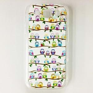 MOFY-Fshion Owl Bird Lovers Patr—n de pl‡stico duro caso para Samsung S3 I9300 , Multicolor