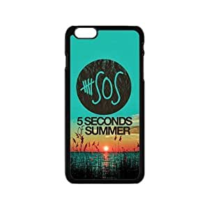 Custom 5 SOS Durable Protector Plastic Snap On Cover Case for iPhone 6