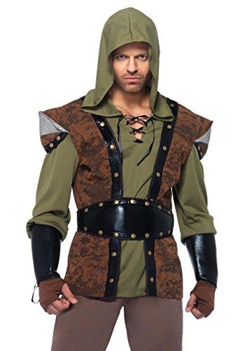 Leg Avenue Men's 5 Piece Robin Hood Costume, Brown, Medium/Large for $<!--$29.95-->