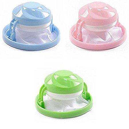3 PCS Washing Machine Supplies Household Floating Washing Bags Hair Ball Filter