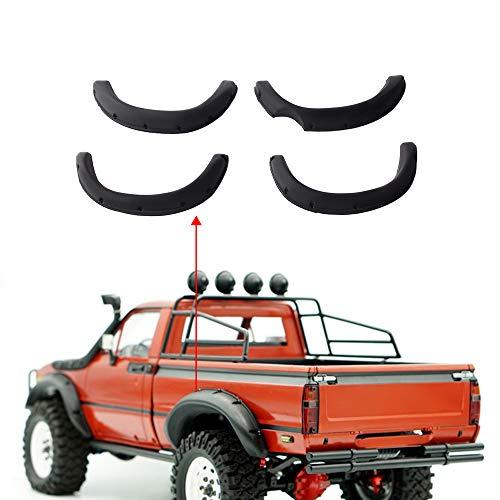 INJORA 1:10 RCクローラー用ラバーフェンダーフレアタミヤハイラックスRC4WD TF2 モハベボディーパーツ