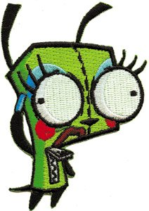 (Invader Zim Pretty Gir Dog Pretty Embroidered Iron On Patch IZ-28)