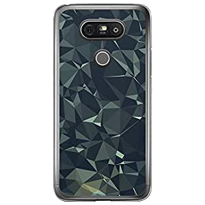 Loud Universe LG G5 Geometrical Printing Files A Geo 11 Printed Transparent Edge Case - Grey