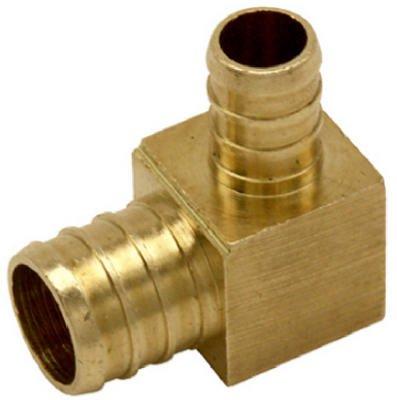 Watts PEX LFP-721 Reducing Elbow 3/4-Inch Barb x 1/2-Inch Barb Low-Lead, Brass