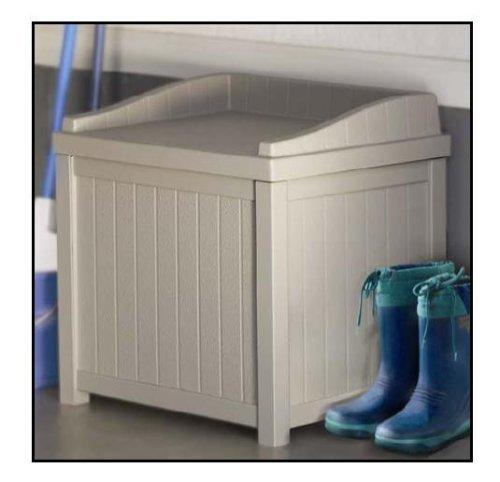 Premium Storage Bench Furniture Seat for Patio Deck or Garden Outdoor Box in Suncast Small Design