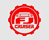 Fj Cruiser Cap Decals 5in Trd Racing Vinyl Decal Die Cut Sticker (Red) W/Free Shipping