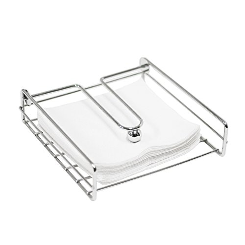 - Oasis Collection Napkin Holder with Metal Weight Ball, NH029809, Chrome
