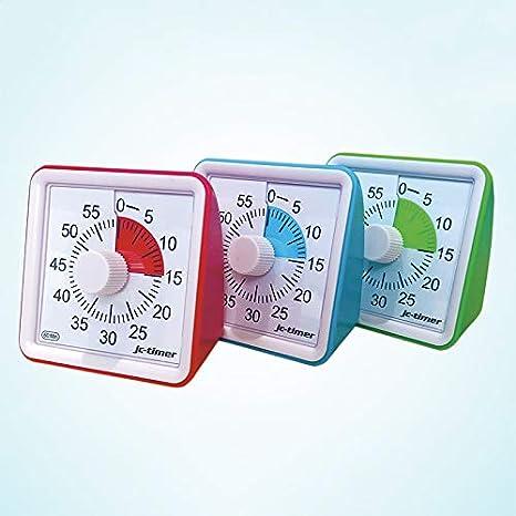 1 PCs 60 Minutes Minuterie analogique visuelle Compte /à rebours Silencieux Gestion du Temps pour Les Enfants Adultes Herewegoo Minuterie analogique visuelle
