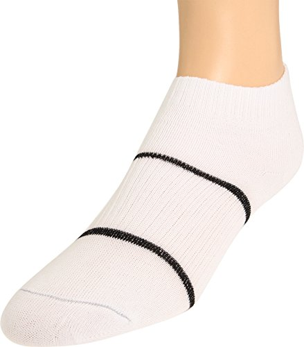 Wrightsock Anti-Blister Double Layer Running II Quarter Sock White with Black Accents,Large