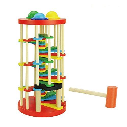 KidzZings Educational Wooden Ladder Hammer product image