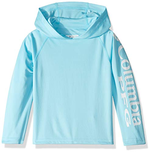Columbia Unisex Terminal Tackle Hoodie, Coastal Blue, White, Medium ()