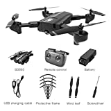 Liobaba for SG900 Foldable Quadcopter 720P Drone Quadcopter WiFi FPV Drones Optical Flow Positioning RC Drone Helicopter with Camera Black