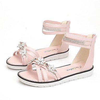 LvYuan Mujer-Tacón Plano-Confort-Sandalias-Oficina y Trabajo Vestido Informal-PU-Azul Rosa Beige Pink
