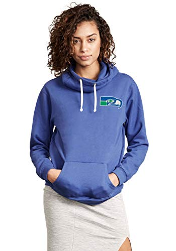 Seattle Seahawks Sunday Cowl Neck Women's Hoodie Small