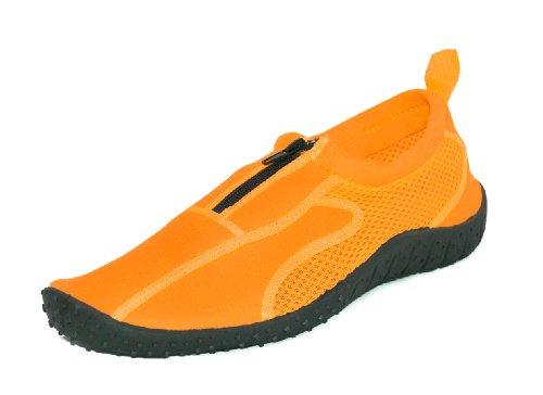Rockin Footwear Womens Rubber Aqua Neon Water Shoes Orange