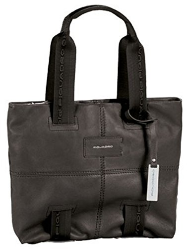 Shopping bag media Piquadro, colore nero BD2587W48-N