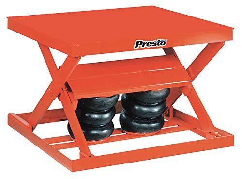 Stationary Pneumatic Lift Scissor Lift Table, 2000 lb. Load Capacity, Lifting Height Max. 32