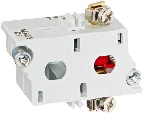 - Eaton 10250T51 Switch Contact Block, 30.5mm Diameter, Screw Terminals, SPST-NC Contacts