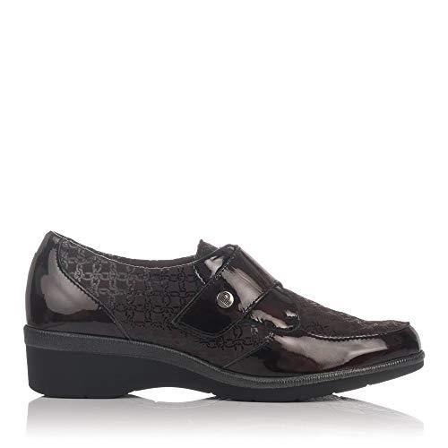 Combi Zapato Marron Mujer 5215 Velcro Pitillos Clasicc q6ITwa