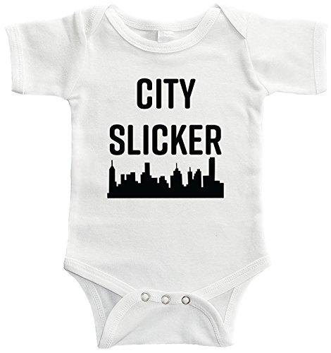 Starlight Baby City Slicker Bodysuit (12-18 Months, White) -