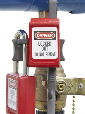 Handle-On Ball Valve Lockout by Table Top king (Image #1)