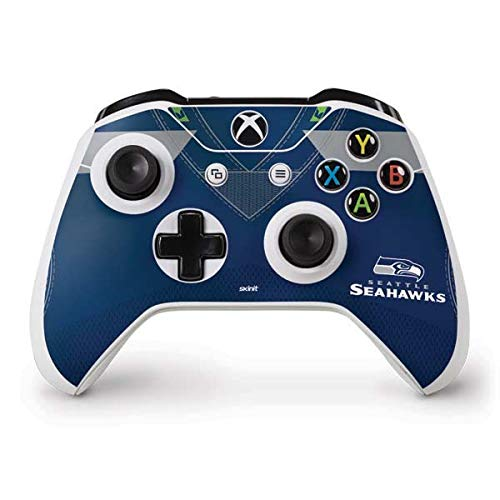 - Skinit Seattle Seahawks Team Jersey Xbox One S Controller Skin - Officially Licensed NFL Gaming Decal - Ultra Thin, Lightweight Vinyl Decal Protection