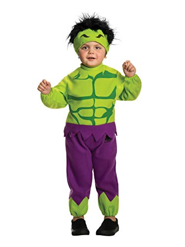 Rubie's Baby's Marvel Classics Avengers Assemble Fleece Hulk Costume, Multi, Toddler