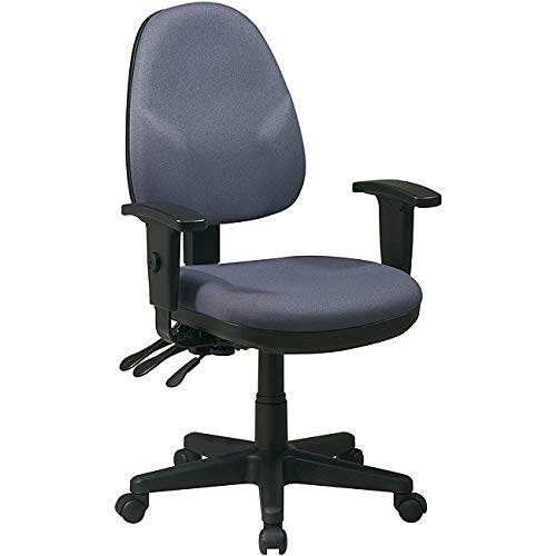 Mid-Back Dual Function Ergonomic Office Chair with Adjustable Arms Fabric: Icon – Grey, Arms: Included