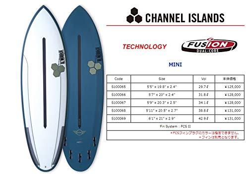 CHANNEL ISLAND(チャネルアイランド) AL MERRICK MINI モデル サーフボード 5'7