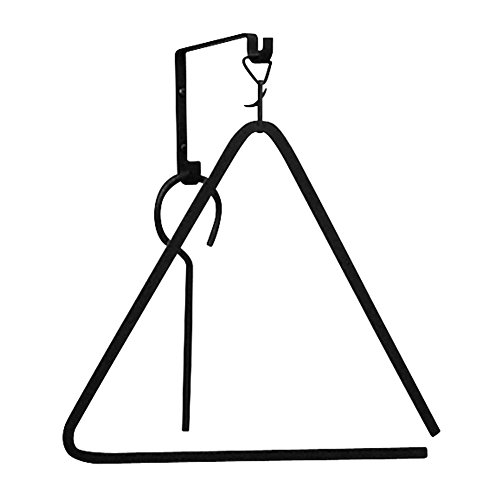 Iron Small Dinner Triangle Bell - Black Metal Supper Chime (Best Out Of Waste Wind Chime)