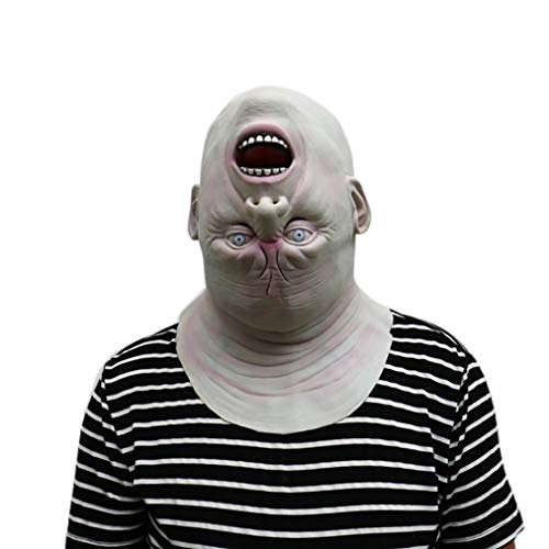 WeiYun Scary Zombie Latex Monster Mask, Walking Horror Ghost Devil Evil Face Mask